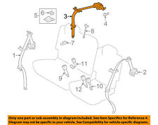 TOYOTA OEM 12-14 Prius V Rear Seat Belt-Center Middle Assy 7335047050G0