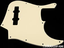 * NEW Vintage Cream PICKGUARD for Fender Jazz Bass 3 Ply Standard 10 Hole