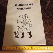 Original Militarisher Nahkampf  German Army Field Manual Hand Combat Rare Book