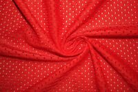 Orange Athletic Sports Mesh Knit Polyester Football Jersey Fabric BTY