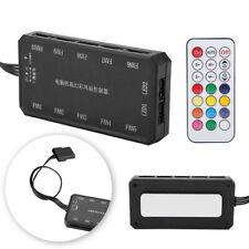 Rgb LED Caja de la computadora PC controlador del ventilador de refrigeración + control remoto inalámbrico RF