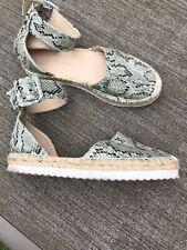 River Island Snake Print  Ankle Strap Espadrilles Sandal Shoes Uk 5 Eur 38