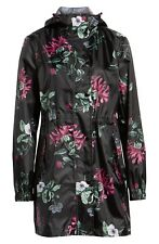 NEW  Joules Right as Rain Packable Print Hooded Raincoat Size 14 US