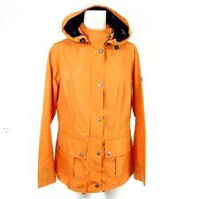 Barbour Ladies Functional Jacket Size 38 M Orange Clove Hitch Seafarer Np 199