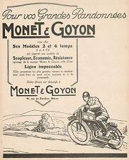 Y9696 Motocyclettes MONET & GOYON - Pubblicità d'epoca - 1926 Old advertising