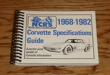 1968 - 1982 Chevrolet Corvette NCRS Pocket Specifications Guide Volume Two