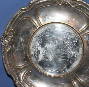 ANTIQUE SILVER PLATED PLATE