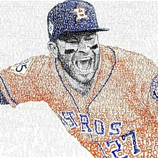 "MLB BASEBALL HOUSTON ASTROS JOSE ALTUVE 13""X19"" SIZE POSTER PRINT ART #2"