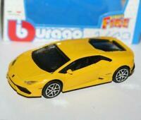 New Burago 1/43 Diecast Model Car - Lamborghini Huracan LP610-4  in Yellow