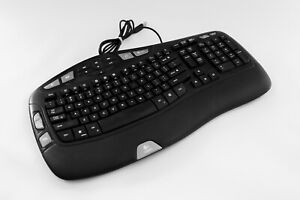 Logitech Wave Comfort Ergo Wired USB Keyboard Y-UV90 - Fast To Post.