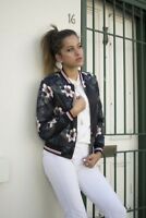 FROCK IN HEELS WOMEN'S ISA VINTAGE BOMBER JACKET - FOREST FLORAL SIZES S-L