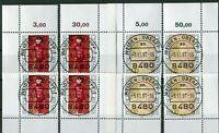 Bund 1572 - 1573 Eckrand Ecke 1 - 4 gestempelt EST Vollstempel Frankfurt + Bonn
