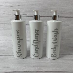 3x Grey Mrs Hinch Inspired Pump Bottles  White Gloss- 500ml- FAST FREE POSTAGE