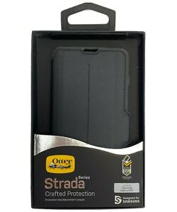 OtterBox Strada For Samsung Galaxy S10+ Black Leather Case Protection -New-