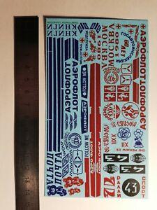 1:43 Decals Inscriptions and symbols on Soviet cars. USSR Saratov Nr.1.