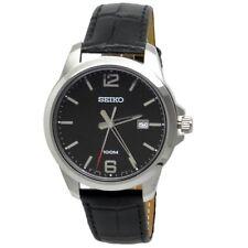 Seiko Analog Casual Watch Quartz Black Mens SUR251P1
