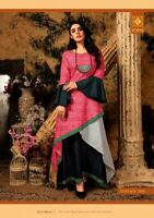 Indian Bollywood Designer indo western gown Kurta Kurti women ethnic dress -gt07