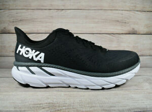 Hoka One One Clifton 7 Running Shoes Black White Women's Size 8.5 Wide