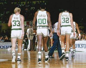 NBA Boston Celtics Larry Bird Robert Parish Kevin McHale Color  8 X 10 Photo Pic