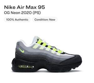 Nike Air Max 95 OG Neon 2020 (PS) Size 12c CZ0948-001 NIB