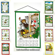 Textiler Wandkalender 2021 Textilkalender Stoffkalender Kalender Baumwolle 45x65