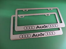 "(2)"" *AUDI* "" Stainless Steel license plate frame LL"