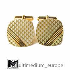 585er Gold Manschettenknöpfe graphisches Muster 14ct gold cuff links 🌺🌺🌺🌺🌺