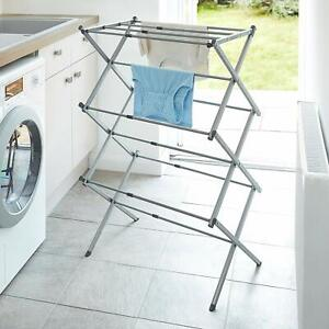 Extendable Compact Clothes Airer, Cool Grey, 7.5M Drying BLACK+DECKER
