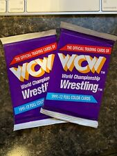 2 Packs of 1991 IMPEL WCW WRESTLING CARDS Sealed Rare WWF WWE TNA NXT AEW NJPW