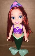 "Disney Princess Colors Of The Sea Ariel Doll 14"" Light Up Tail Beautiful"