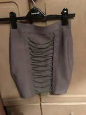 Oh polly Bandage Corset Mini Skirt Shark Grey Small