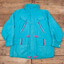 "Mens Vintage Adidas Trekking Blue Hooded Jacket Large 44"" R7125"
