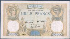 1000 Frs CERES & MERCURE - Fay n° 38.34 - 2 février 1939.TS.en TTB Y.6450 176