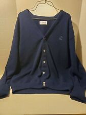 Izod Dark Blue Cardigan Sweater Made In USA