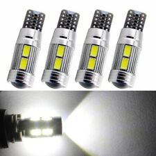 4x T10 White 5630 LED 194 W5W 10SMD Canbus Error Free Car Side Wedge Light Bulb