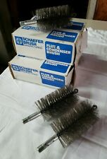 "Lot of 7 43556 Schaefer 3-1/4"" Flue 3"" Dia Flue & Condenser Brushes 5 NIB 2 NEW!"