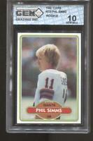 1980 Phil Simms Topps #225 RC Rookie Gem Elite 10 Pristine New York Giants