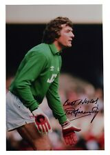 Pat Jennings SIGNED 12x8 Photo Autograph Arsenal Football Goalkeeper AFTAL COA