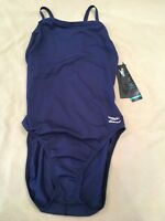Speedo Endurance Swimsuit 12/38 Navy Blue Train III Tech Nwt $69