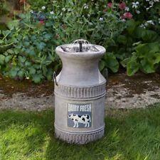 Milk Churn Fountain Outdoor Water Feature (Solar) by Smart Solar For Garden