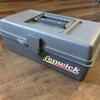 Vintage Fenwick Woodstream 1060 1100? Tackle Box Storage 70's Fishing Bait Gear