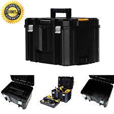 Dewalt Tool Storage Case Box Durable Hard Plastic Flat Top Deep Toolbox Organize