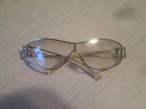 Chanel 4072B Shield Wrap Sunglasses Rhinestone Vintage ~ FOR PARTS OR REPAIR
