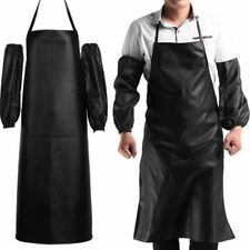 Waterproof Cooking Leather Apron Cuff Over Sleeves Anti Oil Restaurant Kitchen