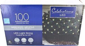 Celebrations 40805-71 Led Net Lights, 4' L X 6' W, 100 Warm White Lights