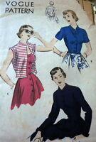 LOVELY VTG 1950s JACKETS VOGUE Sewing Pattern 14/32