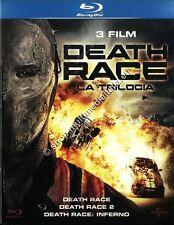 DEATH RACE LA TRILOGIA - COFANETTO 3 BLU RAY DISC NUOVO (SLIPCASE)