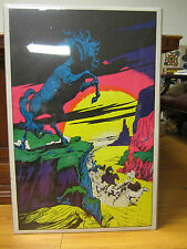 Black stallion black light Poster original NICE 12539