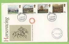 G.B. 1979 Horse Racing Post Office First Day Cover, Kings Lynn, Royal Studs cach