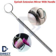 Eyelash Extension Mirror Octagonal Handle Eye Lashes Makeup Inspection Beauty
